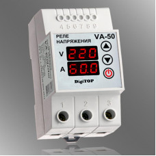 Реле напряжения с контролем тока DigiTOP VA-50
