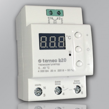 Терморегулятор terneo b20 для теплого пола на DIN-рейку