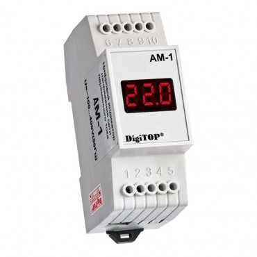 Амперметр цифровой однофазный 220 В DigiTOP АМ-1